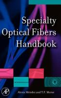 Cover image for Specialty optical fibers handbook