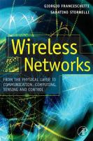 Cover image for Wireless networks : from the physical layer to communication, computing, sensing, and control