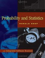 Cover image for Probability and statistics with integrated software routines