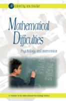 Cover image for Mathematical difficulties : psychology and intervention