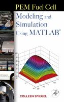 Cover image for PEM fuel cell modeling and simulation using Matlab
