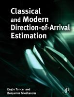Cover image for Classical and modern direction-of-arrival estimation