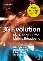 Cover image for 3G evolution : HSPA and LTE for mobile broadband