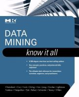 Cover image for Data mining : know It all