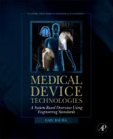 Cover image for Medical device technologies : a systems based overview using engineering standards
