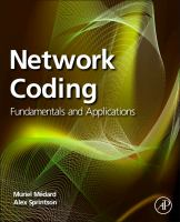 Cover image for Network coding : fundamentals and applications
