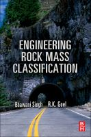 Cover image for Engineering rock mass classification : tunneling, foundations, and landslides