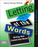 Cover image for Letting go of the words