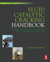 Cover image for Fluid catalytic cracking handbook : an expert guide to the practical operation, design, and optimization of FCC units