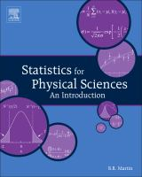 Cover image for Statistics for physical science : an introduction