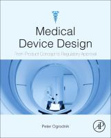 Cover image for Medical device design : innovation from concept to market