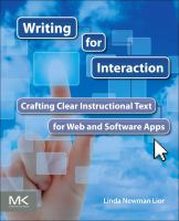 Cover image for Writing for interaction : crafting the information experience for Web and software apps