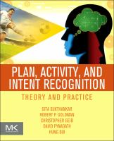 Cover image for Plan, activity, and intent recognition : theory and practice
