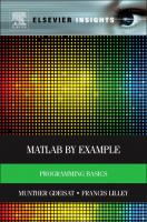 Cover image for Matlab by example : programming basics