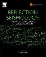 Cover image for Reflection seismology : theory, data processing and interpretation