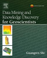 Cover image for Data mining and knowledge discovery for geoscientists