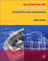 Cover image for Up and running with AutoCAD 2014 :  2D and 3D drawing and modeling