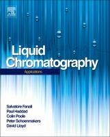 Cover image for Liquid chromatography : applications