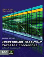 Cover image for Programming massively parallel processors : a hands-on approach