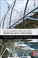 Cover image for Finite element analysis and design of metal structures