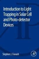 Cover image for Introduction to light trapping in solar cell and photo-detector devices