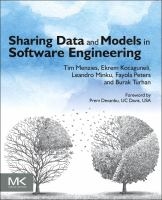Cover image for Sharing data and models in software engineering