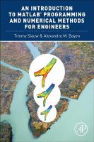 Cover image for An introduction to MATLAB programming and numerical methods for engineers