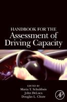 Cover image for Handbook for the assessment of driving capacity