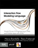 Cover image for Interaction flow modeling language : model-driven UI engineering of web and mobile apps with IFML