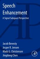 Cover image for Speech enhancement : a signal subspace perspective