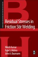 Cover image for Residual stresses in friction stir welding