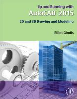 Cover image for Up and running with AutoCAD 2015 : 2D and 3D drawing and modeling