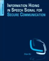 Cover image for Information hiding in speech signals for secure communication