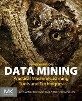 Cover image for Data Mining : Practical Machine Learning Tools and Techniques, Fourth Edition