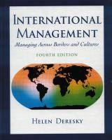 Cover image for International management : managing across borders and cultures