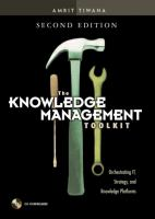Cover image for The knowledge management toolkit orchestrating IT, strategy, and knowledge platforms