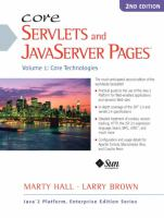 Cover image for Core servlets and javaserver pages