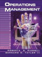 Cover image for Operations management : focusing on quality and competitiveness