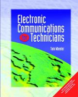 Cover image for Electronics communications for technicians
