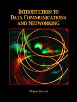 Cover image for Introduction to data communications and networking