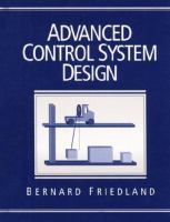 Cover image for Advanced control system design