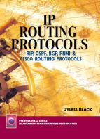 Cover image for IP routing : RIP, OSPF, BGP, PNNI and routing protocols
