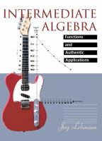 Cover image for Intermediate algebra :  functions and authentic applications