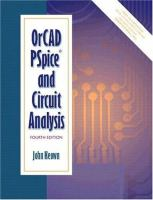 Cover image for OrCAD PSpice and circuit analysis