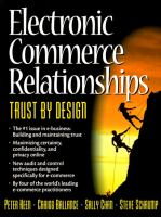 Cover image for Electronic commerce relationships : trust by design