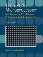 Cover image for The 68000 microprocessor : hardware and software principles and applications