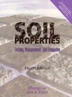 Cover image for Soil properties : testing, measurement and evaluation