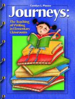 Cover image for Journeys : the teaching of writing in the elementary classrooms