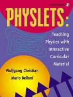 Cover image for Physlets : teaching physics with interactive curricular material