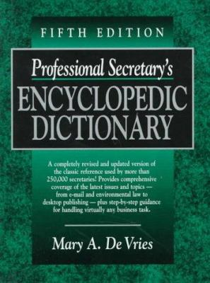 Cover image for Professional secretary's encyclopedic dictionary
